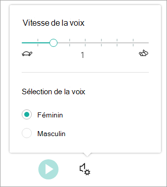 Vitesse de la voix du lecteur immersif et sexe