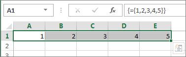 Constante de matrice horizontale à une dimension