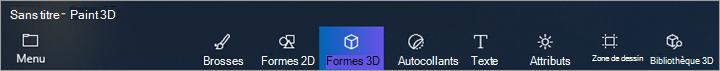 formes 3D