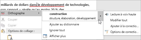 Faute d'orthographe dans un document Word