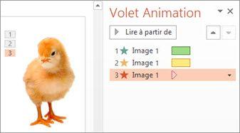 Appliquer plusieurs animations à un objet