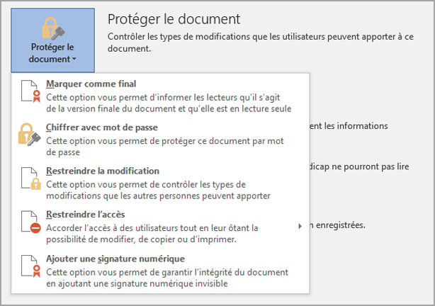 Protéger le document
