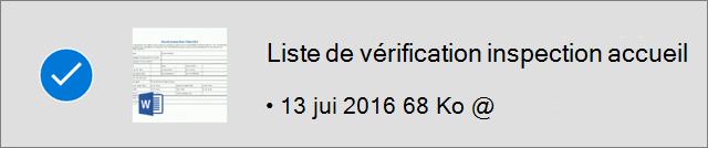 Fichier OneDrive marqué pour utilisation hors connexion
