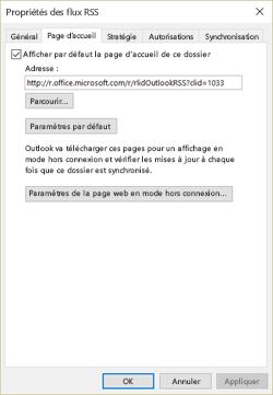 Désactiver l'option Afficher la page d'accueil par défaut pour ce dossier