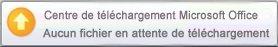 Alerte contextuelle du Centre de téléchargement