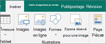 Cliquez sur Insérer, puis cliquez sur espace réservé pour images