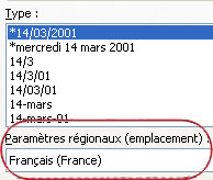 Locale box selected in Format Cells dialog box