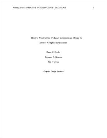 APA Paper template