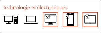 Vous pouvez sélectionner plusieurs icônes à insérer en cliquant une fois sur chacune d'elles.