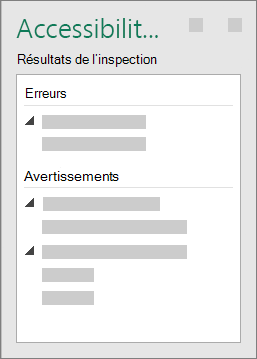 Groupe de résultats de l'inspection
