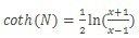Formule d'arccotangente hyperbolique