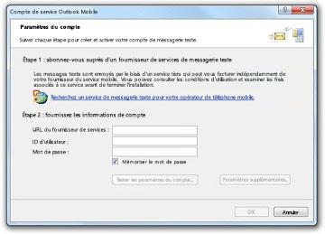 Rechercher un fournisseur SMS