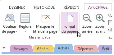 Vous pouvez modifier le format du papier pour l'adapter au modèle créé