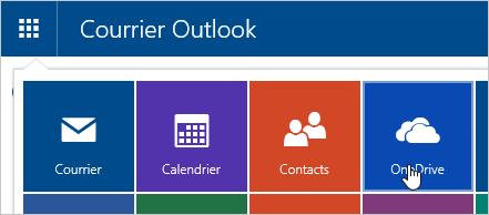 Capture d'écran de la mosaïque OneDrive dans le Lanceur d'applications.