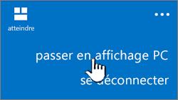 bouton Affichage PC