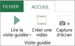Option Lire la visite guidée dans Cartes 3D