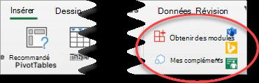 Groupe Modules Excel pour Mac
