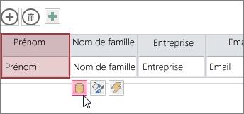 Utiliser le bouton de modification de la conception pour modifier la conception de la feuille de données