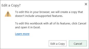 Modifier une copie du message