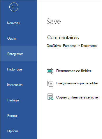 Enregistrer votre fichier