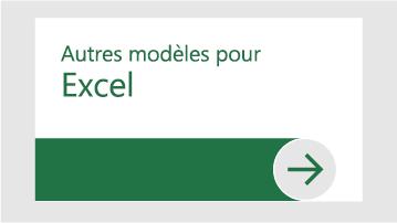 Autres modèles pour Excel