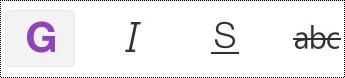 Bouton Texte gras dans la barre de menus sur iPhone
