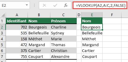 Utilisez la fonction RECHERCHEV classique avec une seule lookup_value référence: = RECHERCHEV (a2; A:C; 32; faux). Cette formule ne renverra pas de tableau dynamique, mais peut être utilisée avec des tableaux Excel.