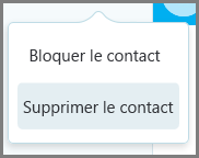 Supprimer le contact