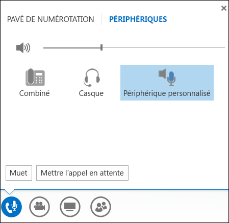 Changer de périphérique audio dans Lync