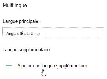Ajouter une langue à l'aide de la fonctionnalité multilingue dans Microsoft Forms