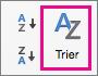 Sous l'onglet Données Excel, sélectionner Trier