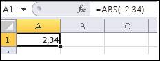 Formule affichée dans la barre de formule