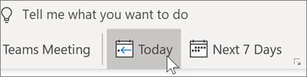 Accéder à aujourd'hui dans Outlook