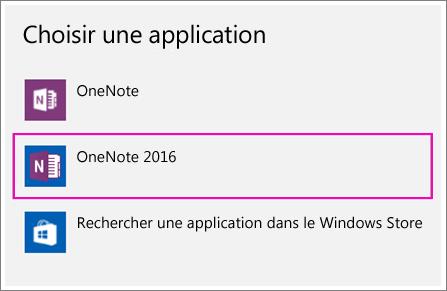 Capture d'écran de l'option Choisir une application dans les paramètres Windows10