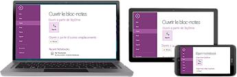 OneNote fonctionne sur un grand nombre d'appareils différents