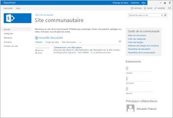 Modèle de site communautaire