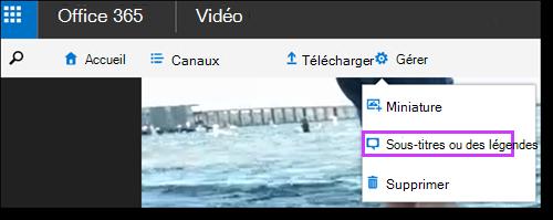 Sous-titres vidéo Office 365