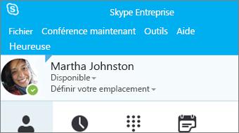 Prise en main de Skype Entreprise2016