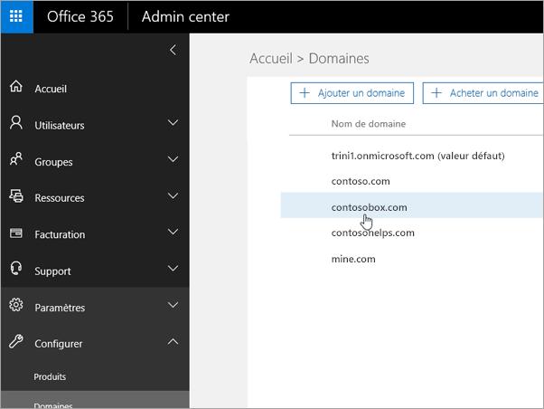 Sélectionnez votre domaine dans Office 365_C3_2017530143622