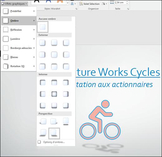 Ajouter des effets tels que des ombres portées à vos graphismes SVG à l'aide de l'outil Effets d'image
