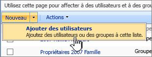 Ajouter un bouton utilisateur dans la liste déroulante