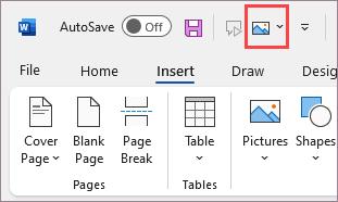 Commande ajoutée à la barre d'outils Accès rapide