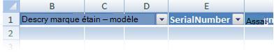 Personnalisation des en-têtes de tableau Excel