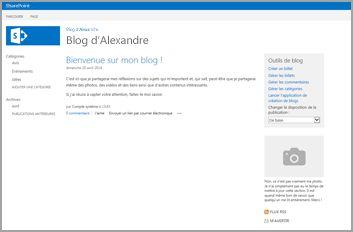 Modèle de site de blog