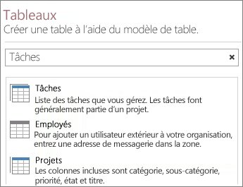Cr er une application access access for Sur la table application