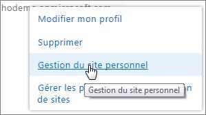 Gérer les propriétaires de collections de sites
