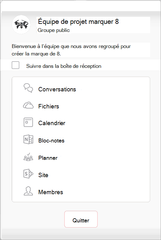 Affichage de l'option Ajouter des membres