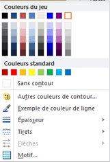 Options de mise en forme du contour de forme WordArt dans Publisher 2010