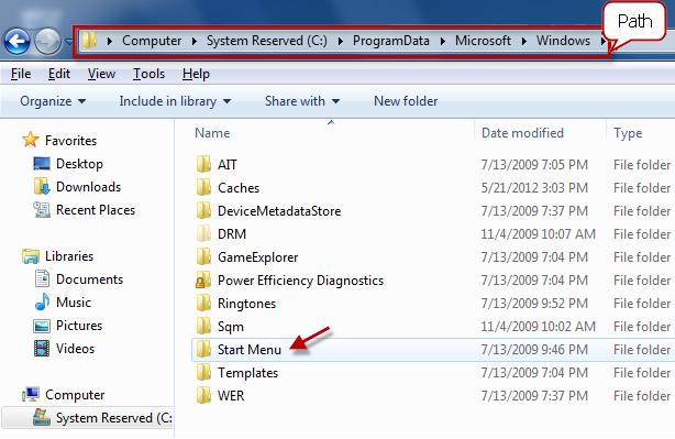 fichier en cours d'exécution du programme spécifique
