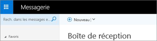 Apparence du ruban dans Outlook Web App